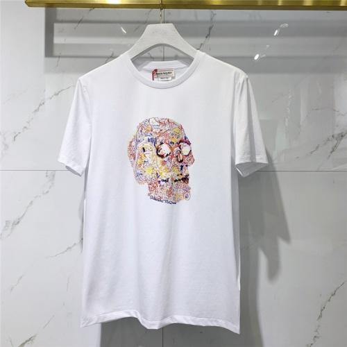 Alexander McQueen T-shirts Short Sleeved For Men #838501 $41.00 USD, Wholesale Replica Alexander McQueen T-shirts