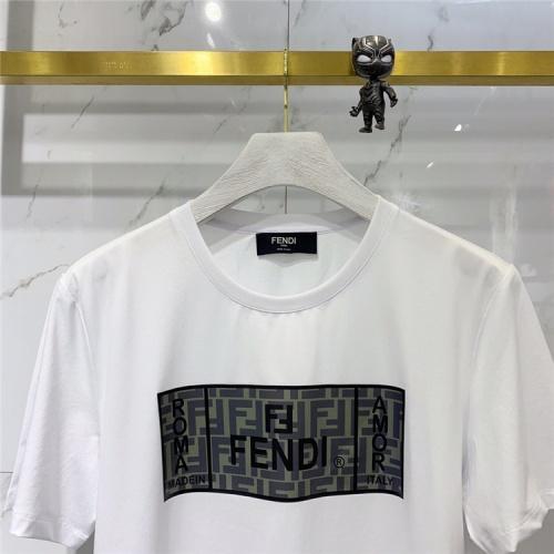 Replica Fendi T-Shirts Short Sleeved For Men #838538 $41.00 USD for Wholesale