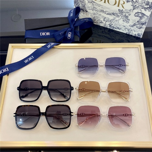 Replica Christian Dior AAA Quality Sunglasses #838817 $66.00 USD for Wholesale