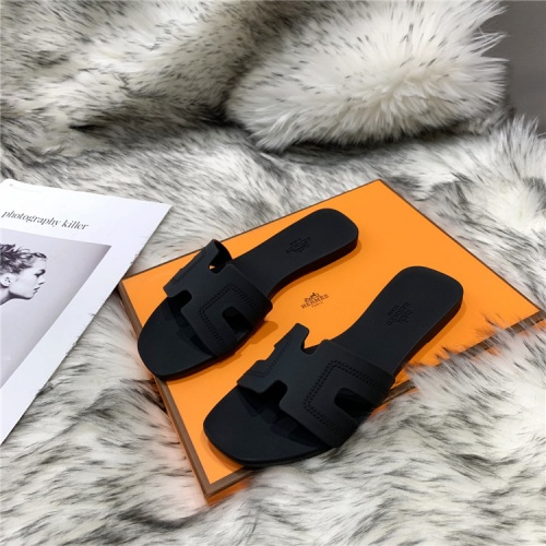 Replica Hermes Slippers For Women #838992 $44.00 USD for Wholesale