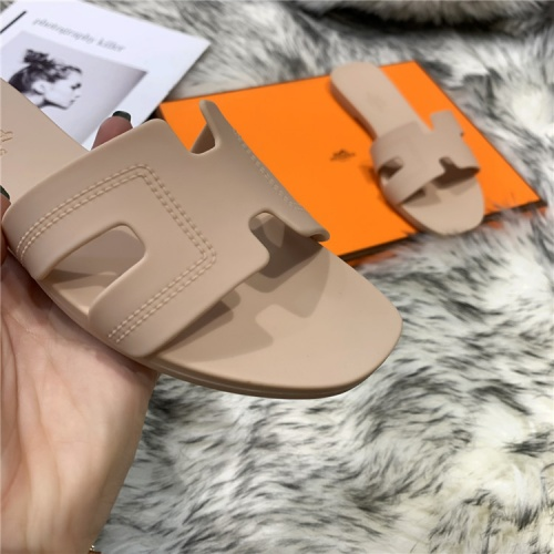 Replica Hermes Slippers For Women #838995 $44.00 USD for Wholesale