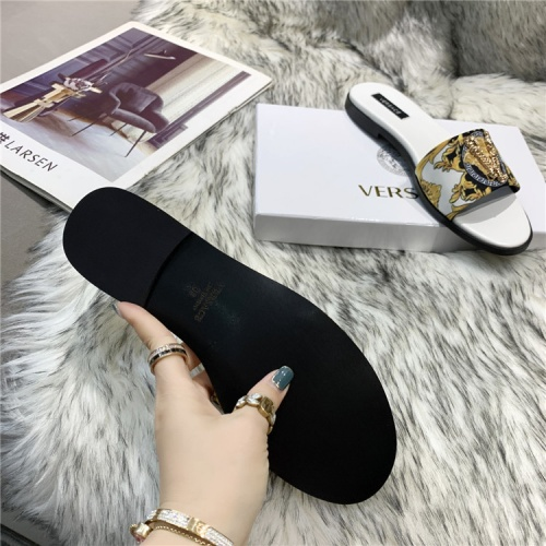 Replica Versace Slippers For Women #838998 $56.00 USD for Wholesale