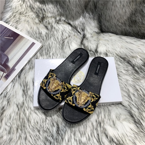 Versace Slippers For Women #838999 $56.00, Wholesale Replica Versace Slippers