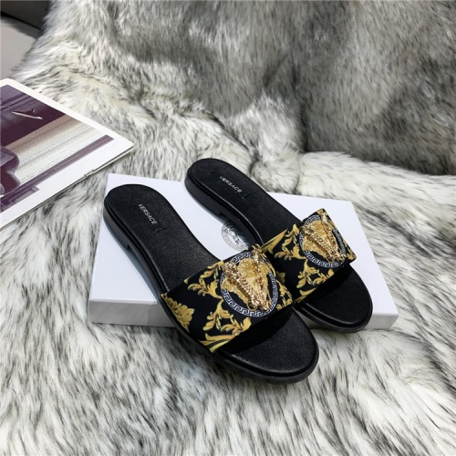 Replica Versace Slippers For Women #838999 $56.00 USD for Wholesale