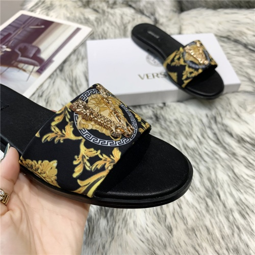 Replica Versace Slippers For Women #839001 $72.00 USD for Wholesale