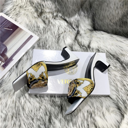 Replica Versace Slippers For Women #839002 $60.00 USD for Wholesale