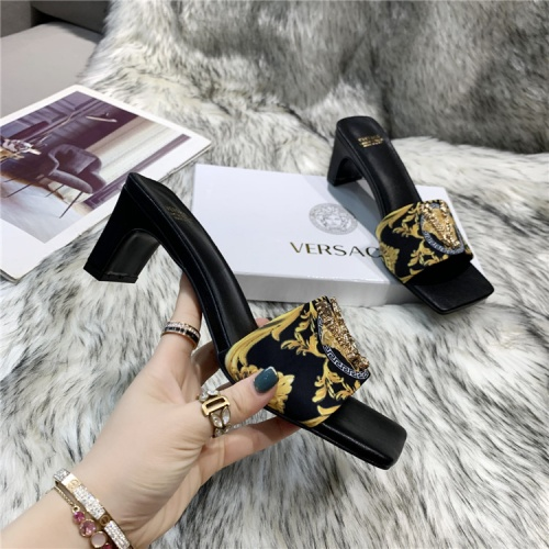 Replica Versace Slippers For Women #839003 $60.00 USD for Wholesale
