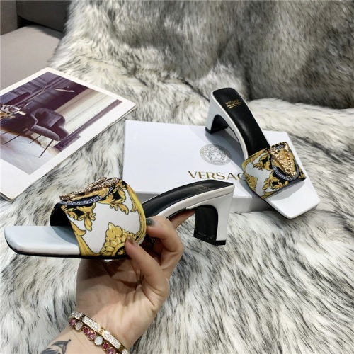Replica Versace Slippers For Women #839004 $74.00 USD for Wholesale