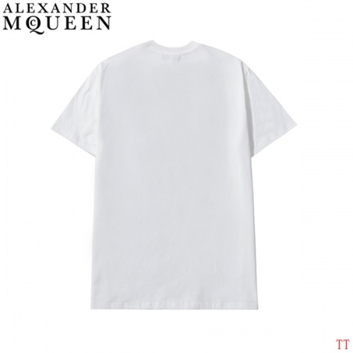 Replica Alexander McQueen T-shirts Short Sleeved For Men #839023 $27.00 USD for Wholesale