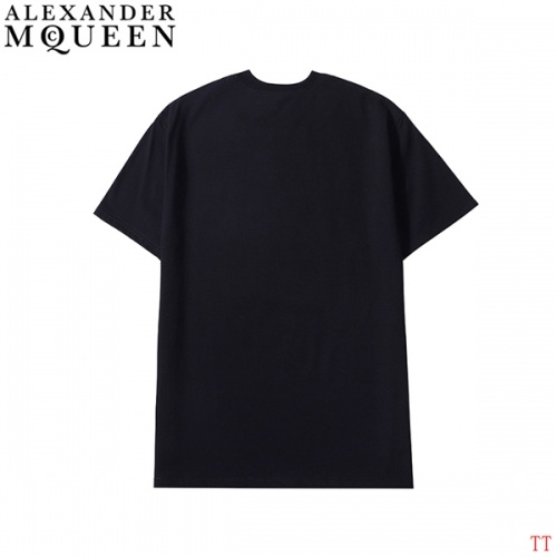 Replica Alexander McQueen T-shirts Short Sleeved For Men #839024 $27.00 USD for Wholesale