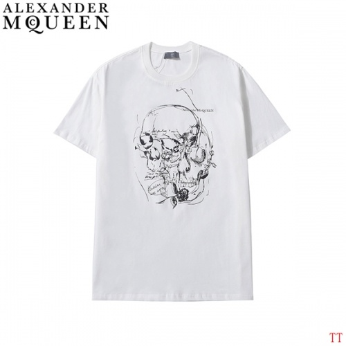 Alexander McQueen T-shirts Short Sleeved For Men #839026