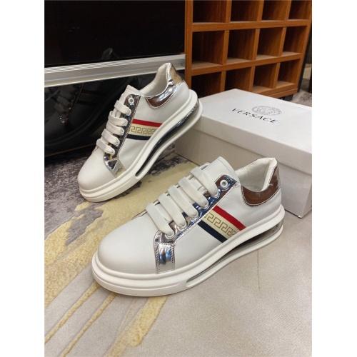 Versace Casual Shoes For Men #839121 $82.00 USD, Wholesale Replica Versace Casual Shoes