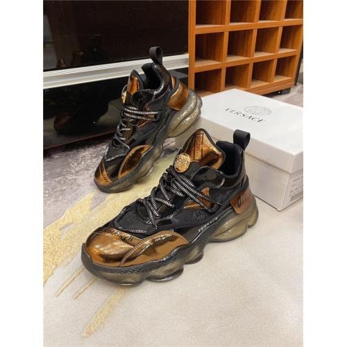 Versace Casual Shoes For Men #839122 $85.00 USD, Wholesale Replica Versace Casual Shoes