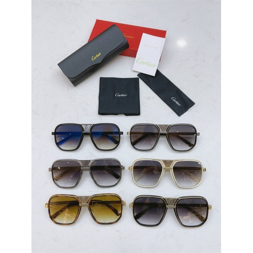 Replica Cartier AAA Quality Sunglasses #839215 $60.00 USD for Wholesale