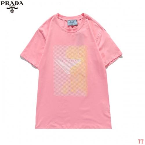 Prada T-Shirts Short Sleeved For Men #839254 $27.00 USD, Wholesale Replica Prada T-Shirts