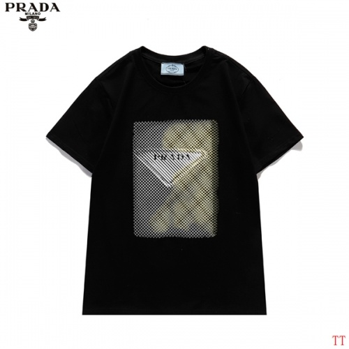 Prada T-Shirts Short Sleeved For Men #839255 $27.00 USD, Wholesale Replica Prada T-Shirts