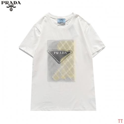 Prada T-Shirts Short Sleeved For Men #839256 $27.00 USD, Wholesale Replica Prada T-Shirts
