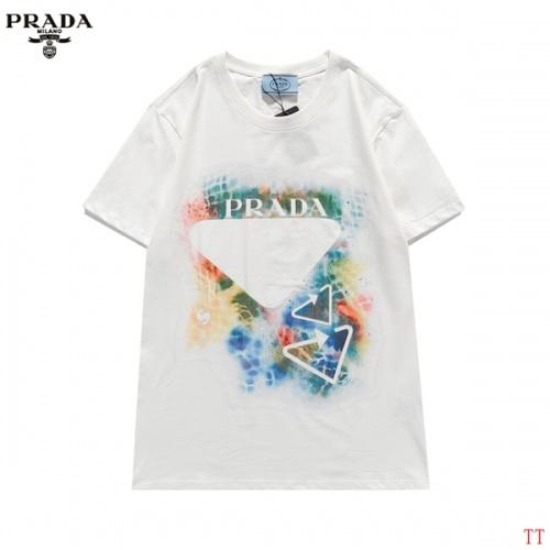 Prada T-Shirts Short Sleeved For Men #839257 $29.00 USD, Wholesale Replica Prada T-Shirts