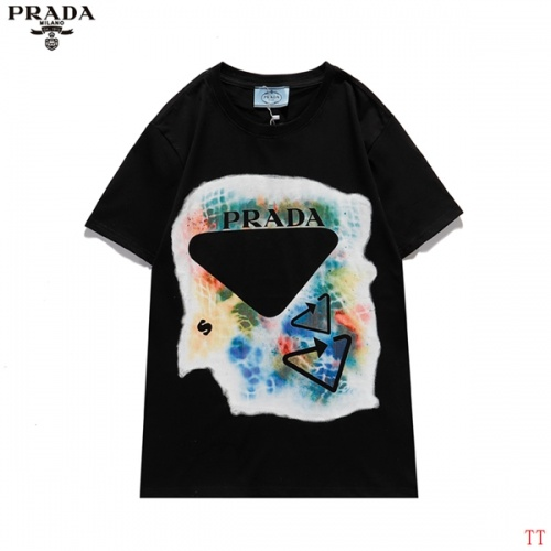 Prada T-Shirts Short Sleeved For Men #839258 $29.00 USD, Wholesale Replica Prada T-Shirts