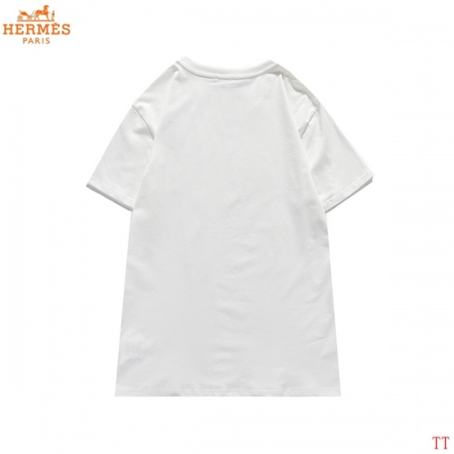 Replica Hermes T-Shirts Short Sleeved For Men #839280 $27.00 USD for Wholesale