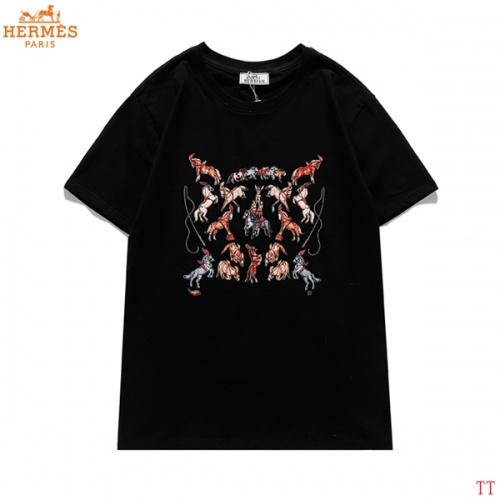 Hermes T-Shirts Short Sleeved For Men #839281 $27.00 USD, Wholesale Replica Hermes T-Shirts
