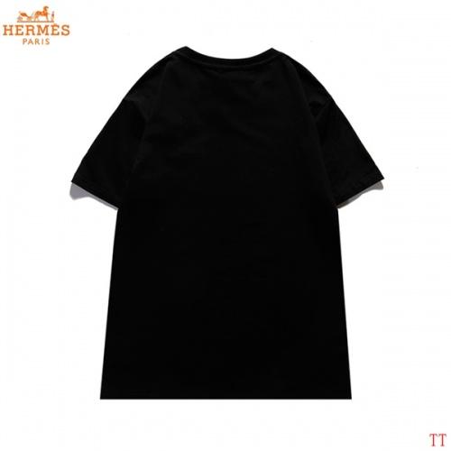 Replica Hermes T-Shirts Short Sleeved For Men #839281 $27.00 USD for Wholesale