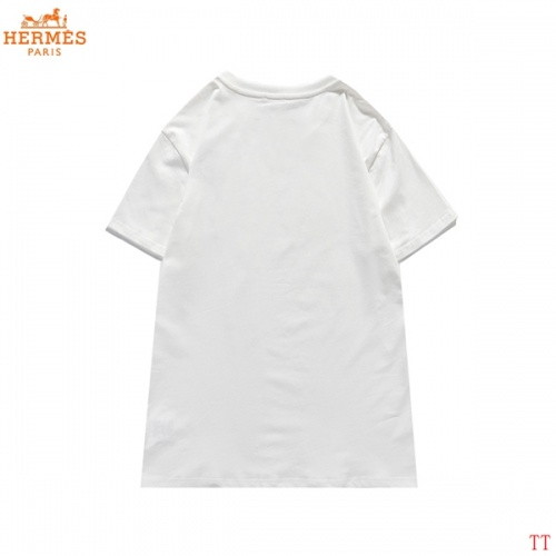 Replica Hermes T-Shirts Short Sleeved For Men #839282 $29.00 USD for Wholesale