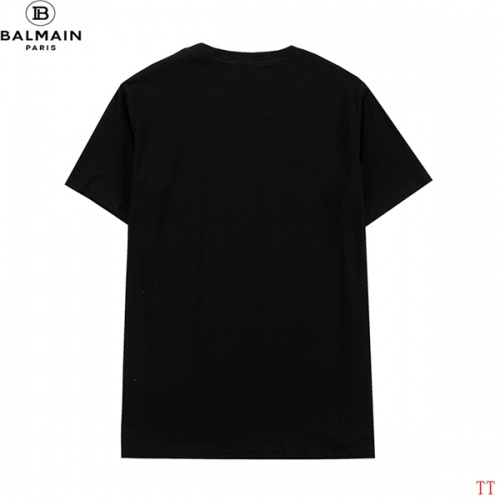 Replica Balmain T-Shirts Short Sleeved For Men #839301 $29.00 USD for Wholesale
