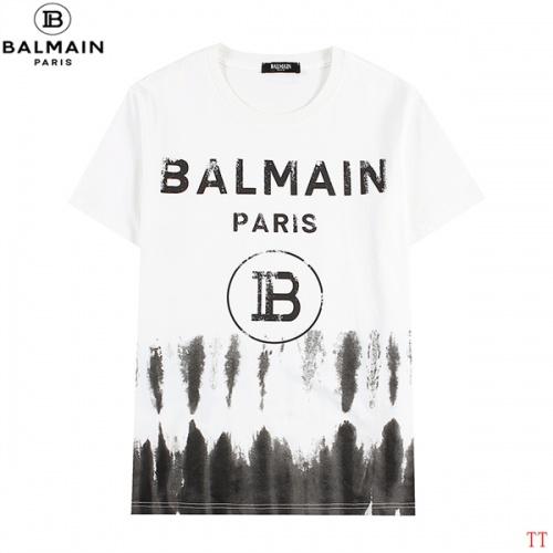 Balmain T-Shirts Short Sleeved For Men #839305 $27.00, Wholesale Replica Balmain T-Shirts