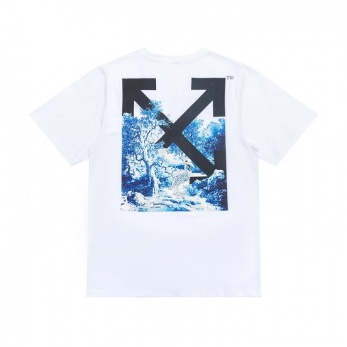 Off-White T-Shirts Short Sleeved For Men #839554 $27.00 USD, Wholesale Replica Off-White T-Shirts