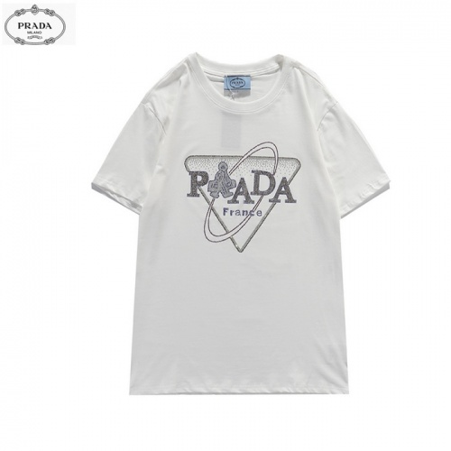 Prada T-Shirts Short Sleeved For Men #839871 $27.00 USD, Wholesale Replica Prada T-Shirts