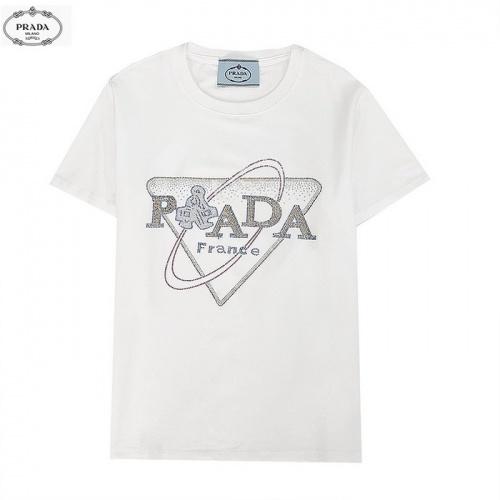 Prada T-Shirts Short Sleeved For Men #839880 $27.00 USD, Wholesale Replica Prada T-Shirts