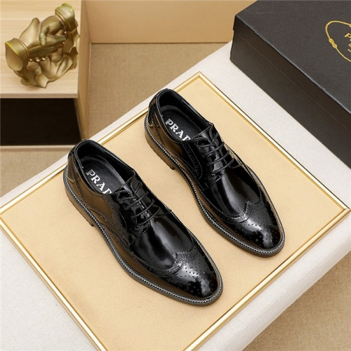 Prada Leather Shoes For Men #839935