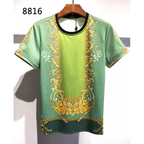 Versace T-Shirts Short Sleeved For Men #840018 $30.00, Wholesale Replica Versace T-Shirts