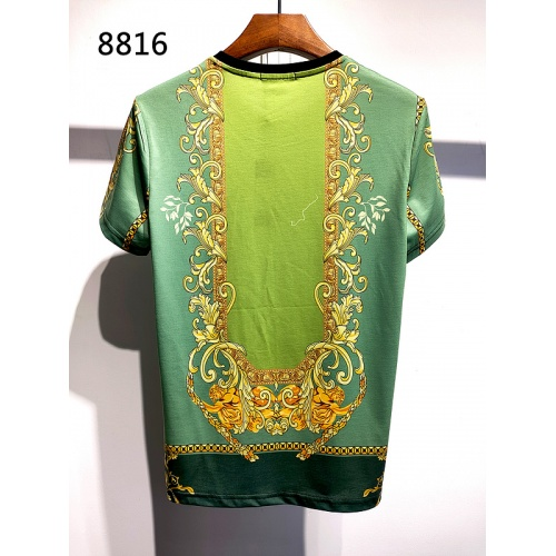 Replica Versace T-Shirts Short Sleeved For Men #840018 $30.00 USD for Wholesale