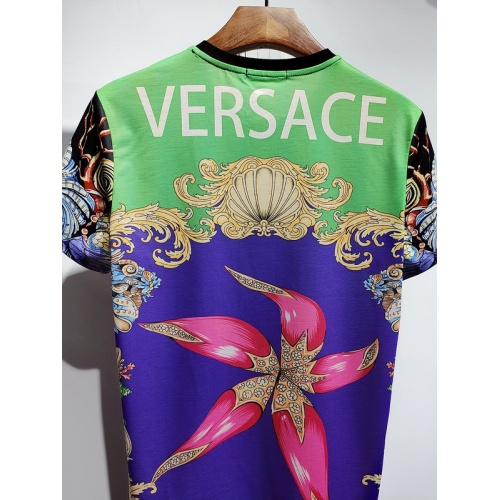 Replica Versace T-Shirts Short Sleeved For Men #840022 $30.00 USD for Wholesale