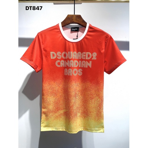 Dsquared T-Shirts Short Sleeved For Men #840049 $28.00 USD, Wholesale Replica Dsquared T-Shirts