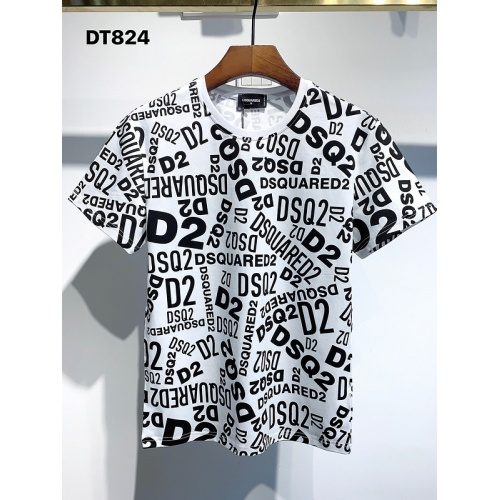 Dsquared T-Shirts Short Sleeved For Men #840075 $30.00, Wholesale Replica Dsquared T-Shirts