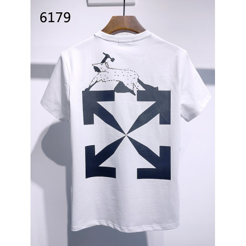 Replica Off-White T-Shirts Short Sleeved For Men #840111 $28.00 USD for Wholesale