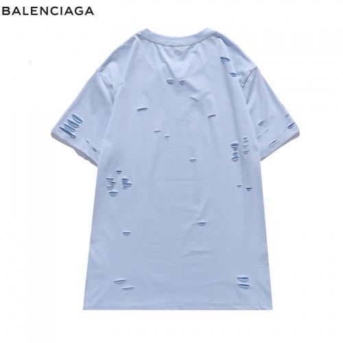 Replica Balenciaga T-Shirts Short Sleeved For Men #840221 $29.00 USD for Wholesale