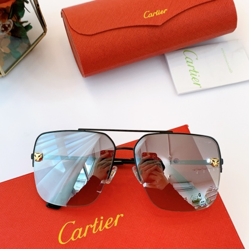 Cartier AAA Quality Sunglasses For Men #840594