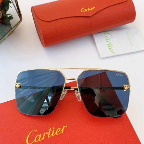 Cartier AAA Quality Sunglasses For Men #840595