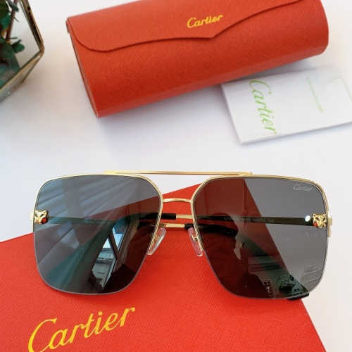 Cartier AAA Quality Sunglasses For Men #840596