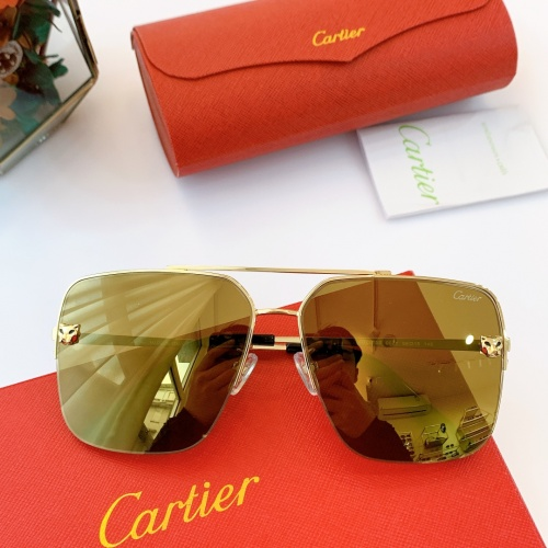 Cartier AAA Quality Sunglasses For Men #840597