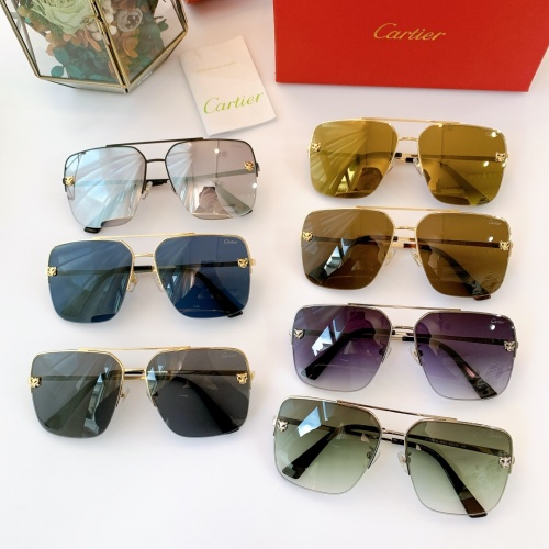 Replica Cartier AAA Quality Sunglasses For Men #840597 $48.00 USD for Wholesale