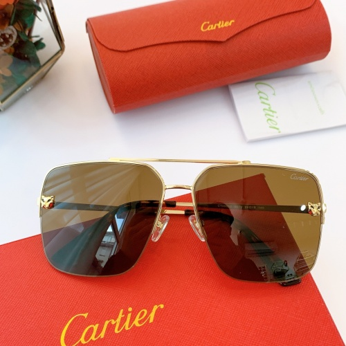 Cartier AAA Quality Sunglasses For Men #840598