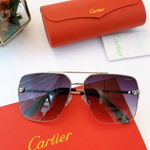 Cartier AAA Quality Sunglasses For Men #840599