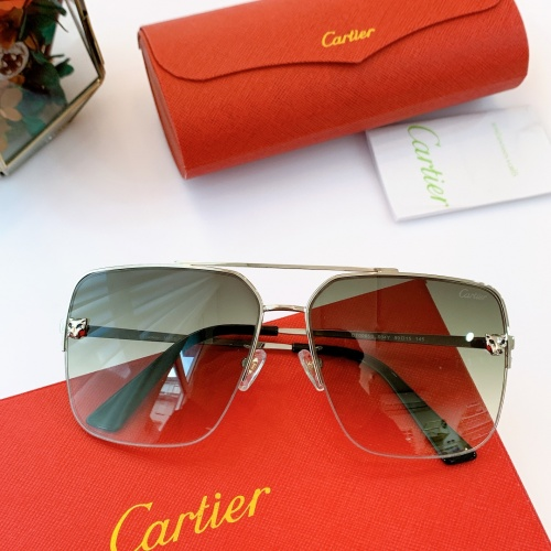 Cartier AAA Quality Sunglasses For Men #840600