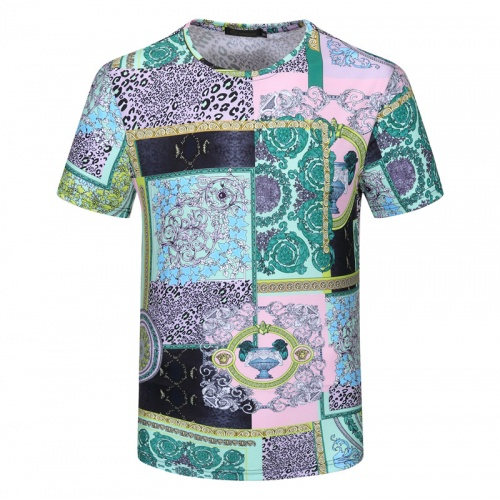 Versace T-Shirts Short Sleeved For Men #840743 $23.00, Wholesale Replica Versace T-Shirts