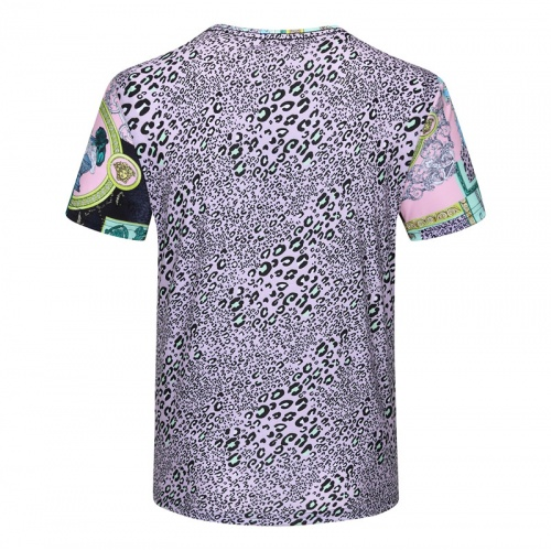 Replica Versace T-Shirts Short Sleeved For Men #840743 $23.00 USD for Wholesale
